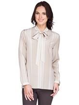 Блуза AKRIS 515503 100% шёлк Бежевый Румыния изображение 0