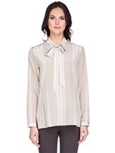 Блуза AKRIS 515503 100% шёлк Бежевый Румыния изображение 1