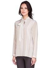 Блуза AKRIS 515503 100% шёлк Бежевый Румыния изображение 2