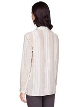 Блуза AKRIS 515503 100% шёлк Бежевый Румыния изображение 3