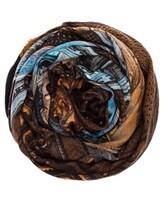 Палантин Faliero Sarti 2053 100% шерсть Сине-коричневый Италия изображение 0