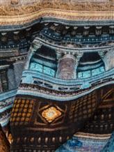 Палантин Faliero Sarti 2053 100% шерсть Сине-коричневый Италия изображение 1