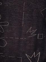 Джемпер Cividini N01551MGJ 41% альпака, 36% раион, 14% нейлон, 9% полиэстер Черный Италия изображение 4