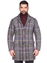 Пальто Capobianco 3M360 30% шерсть, 20% полиамид, 16% шерсть, 12% хлопок, 8% шёлк, 7% альпака, 7% мохер Темно-серый Италия изображение 2