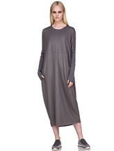 Платье EREDA E251506 97% шерсть, 3% эластан Серый Италия изображение 0