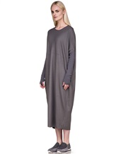 Платье EREDA E251506 97% шерсть, 3% эластан Серый Италия изображение 2