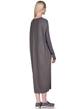 Платье EREDA E251506 97% шерсть, 3% эластан Серый Италия изображение 3