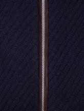 Кардиган FIORONI M15002E1 100% кашемир, 5% кожа Темно-синий Италия изображение 4