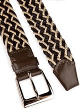 Ремень Stefano Corsini TD45 50% кожа, 50% текстиль Бежево-коричневый Италия изображение 1