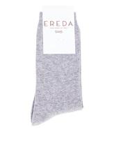 Носки EREDA 17AICS9265DC 70% хлопок, 20% кашемир, 8% полиамид, 2% эластан Светло-серый Италия изображение 0
