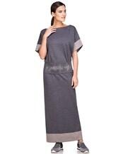 Платье EREDA E251512 96% шерсть, 4% полиамид Серый Италия изображение 0