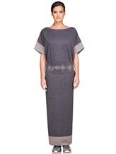 Платье EREDA E251512 96% шерсть, 4% полиамид Серый Италия изображение 1