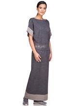 Платье EREDA E251512 96% шерсть, 4% полиамид Серый Италия изображение 2
