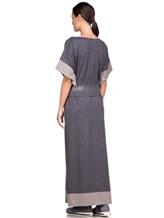Платье EREDA E251512 96% шерсть, 4% полиамид Серый Италия изображение 3