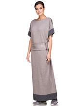 Платье EREDA E251512 96% шерсть, 4% полиамид Какао Италия изображение 3