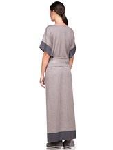Платье EREDA E251512 96% шерсть, 4% полиамид Какао Италия изображение 4