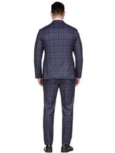 Костюм EREDA 3490 100% шерсть Сине-серый Италия изображение 4