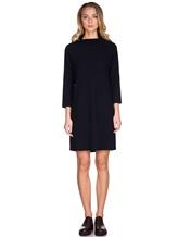 Платье ANTONELLI U4171 70% шерсть, 30% кашемир Черно-синий Италия изображение 2