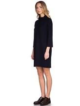 Платье ANTONELLI U4171 70% шерсть, 30% кашемир Черно-синий Италия изображение 3