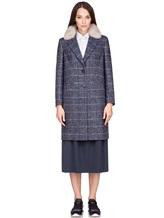 Пальто Peserico S20421A 100% шерсть Серо-синий Италия изображение 1