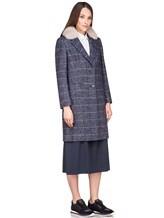 Пальто Peserico S20421A 100% шерсть Серо-синий Италия изображение 2