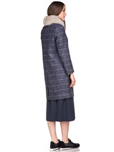 Пальто Peserico S20421A 100% шерсть Серо-синий Италия изображение 3