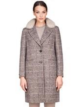 Пальто Peserico S20421A 100% шерсть Серый Италия изображение 1