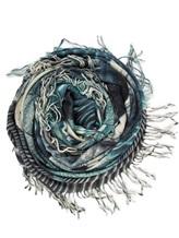 Шаль Re Vera 171815396SABLE 100% кашемир Серо-голубой Китай изображение 0