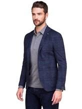 Пиджак Lardini IE558AE 59% хлопок, 41% шерсть Темно-синий Италия изображение 0