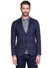 Пиджак Lardini IE558AE 59% хлопок, 41% шерсть Темно-синий Италия изображение 1