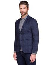 Пиджак Lardini IE558AE 59% хлопок, 41% шерсть Темно-синий Италия изображение 2