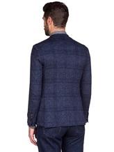 Пиджак Lardini IE558AE 59% хлопок, 41% шерсть Темно-синий Италия изображение 3