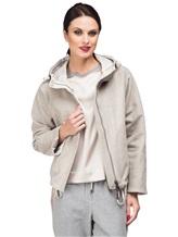 Куртка Peserico S24590D 50% полиэстер, 21% вискоза, 20% шерсть, 7% полиамид, 2% эластан Серо-бежевый Италия изображение 0