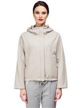 Куртка Peserico S24590D 50% полиэстер, 21% вискоза, 20% шерсть, 7% полиамид, 2% эластан Серо-бежевый Италия изображение 1
