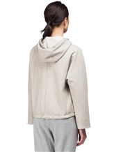 Куртка Peserico S24590D 50% полиэстер, 21% вискоза, 20% шерсть, 7% полиамид, 2% эластан Серо-бежевый Италия изображение 3