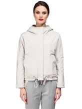 Куртка Peserico S24590D 50% полиэстер, 21% вискоза, 20% шерсть, 7% полиамид, 2% эластан Серо-бежевый Италия изображение 5