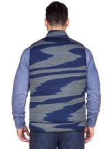 Жилет Missoni 536461 100% шерсть Сине-серый Италия изображение 4