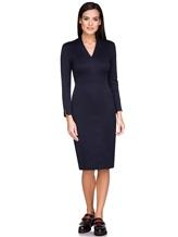 Платье Piazza Sempione P5001A0 89% хлопок, 11% нейлон Темно-синий Италия изображение 0