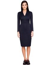 Платье Piazza Sempione P5001A0 89% хлопок, 11% нейлон Темно-синий Италия изображение 1