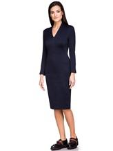 Платье Piazza Sempione P5001A0 89% хлопок, 11% нейлон Темно-синий Италия изображение 2