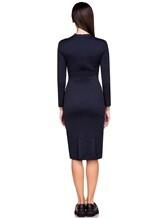 Платье Piazza Sempione P5001A0 89% хлопок, 11% нейлон Темно-синий Италия изображение 3