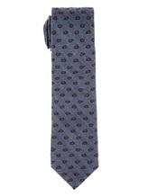 Галстук Stile Latino Napoli 148/7.5 91% шерсть, 9% шёлк Серо-синий Италия изображение 0