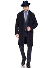 Пальто Massimo Alba FL0RI010 100% шерсть Темно-синий Италия изображение 0