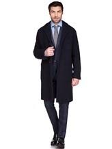 Пальто Massimo Alba FL0RI010 100% шерсть Темно-синий Италия изображение 1