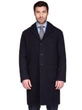 Пальто Massimo Alba FL0RI010 100% шерсть Темно-синий Италия изображение 2