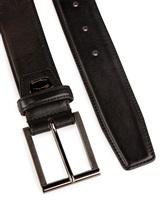 Ремень Santoni CM35V0003 100% кожа Черный Италия изображение 1