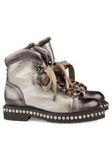 Ботинки Santoni WTWE56798 100% кожа Серо-коричневый Италия изображение 0