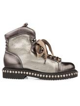 Ботинки Santoni WTWE56798 100% кожа Серо-коричневый Италия изображение 1