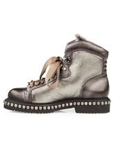 Ботинки Santoni WTWE56798 100% кожа Серо-коричневый Италия изображение 2