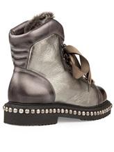 Ботинки Santoni WTWE56798 100% кожа Серо-коричневый Италия изображение 3